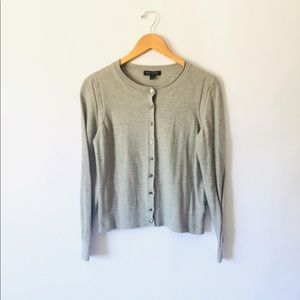 Banana Republic Gray 100% Merino Wool Cardigan